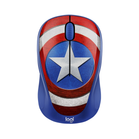 Logitech Wireless Mouse M238 Marvel Collecion Captain America