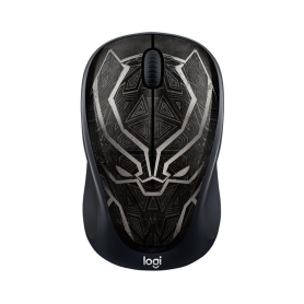 Logitech Wireless Mouse M238 Marvel Collecion Black Panther